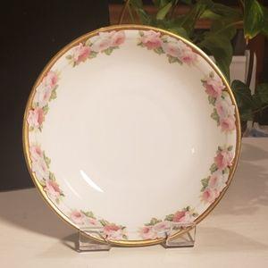 Vintage JHR Bavarian porcelain rose bowl